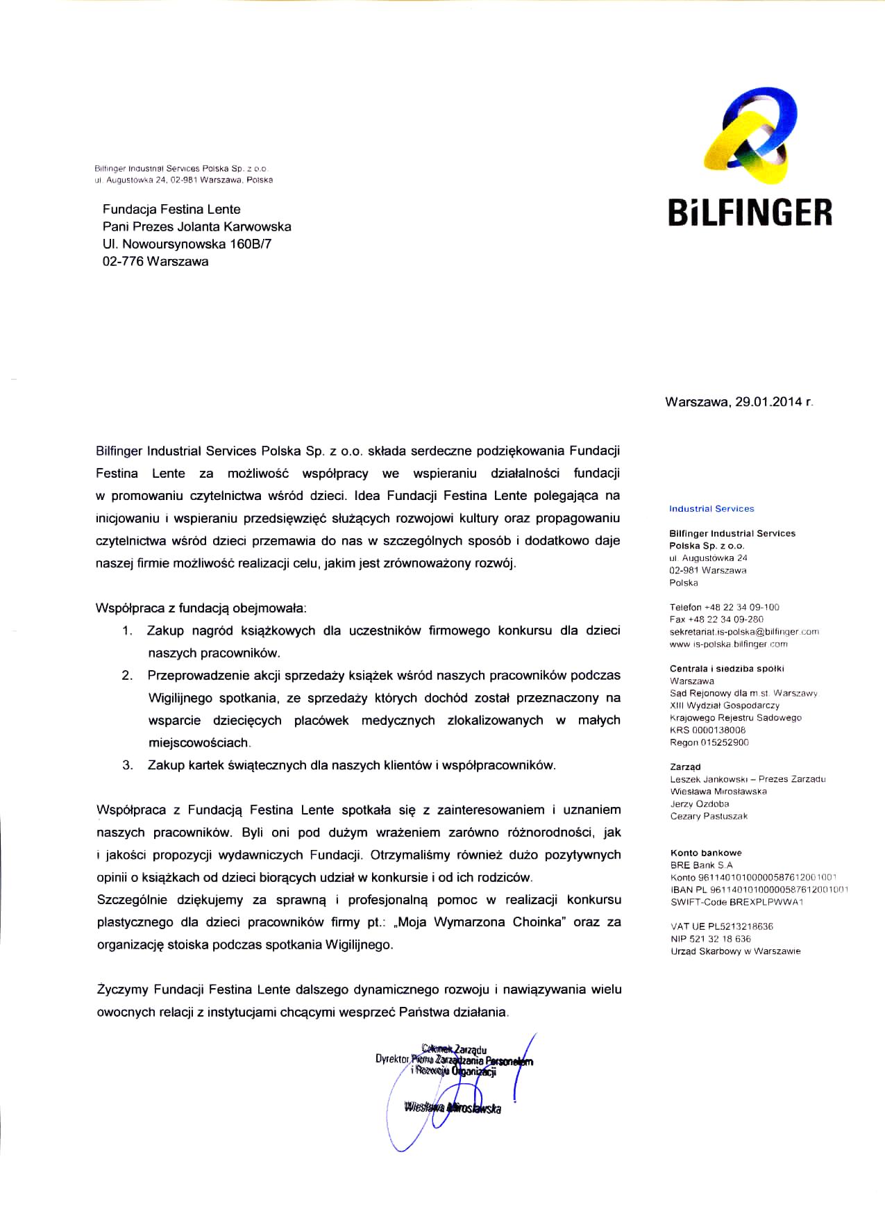 Bilfinger rekomendacja